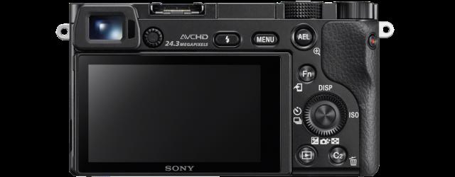 De achterkant met de verschillende bedieningselementen. Foto 'geleend' van de Sony site.
