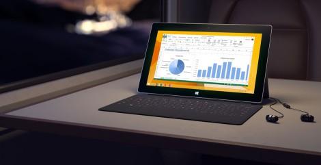 De Surface 2 met touchcover. Foto van de Microsoft site.